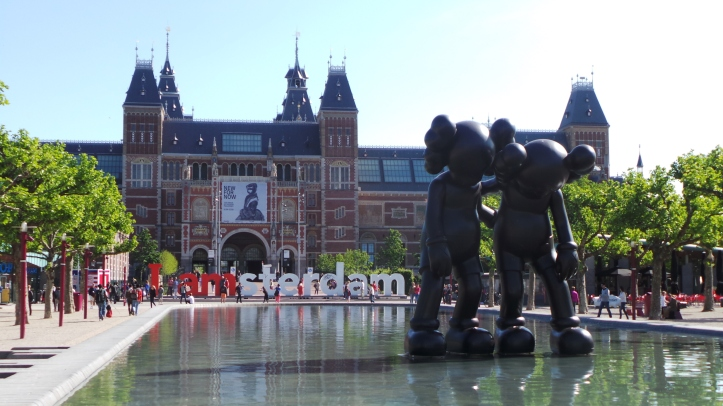 Photo of the iconic 'Iamsterdam' sign