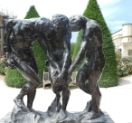 Triplets, seen in the Rodin Museum / Musée Rodin in Paris