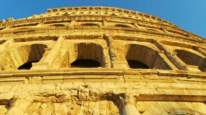 Another exterior photo of the Colosseum.