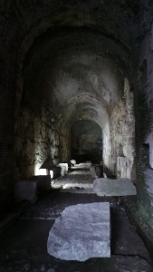 A hallway among the Colosseum dungeons.