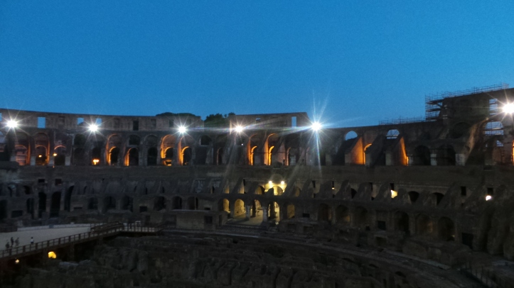 The Colosseum upon sunset.