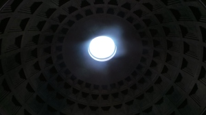 Photo of the Pantheon ceiling.