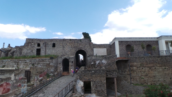 Some of the Pompeii ruins.