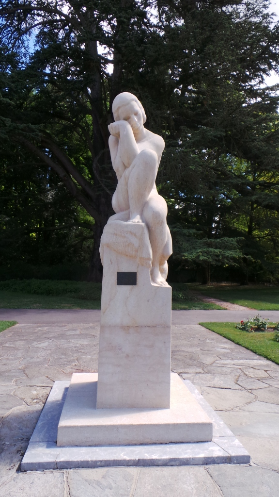 A statue in Geneva's Rose Garden / Parc La Grange. So beautiful.
