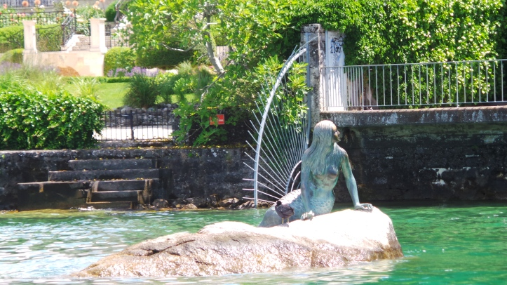 Geneva's Mermaid by the Lake.