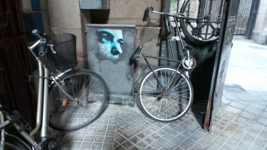 Face, seen in Barcelona's Gothic Quarter