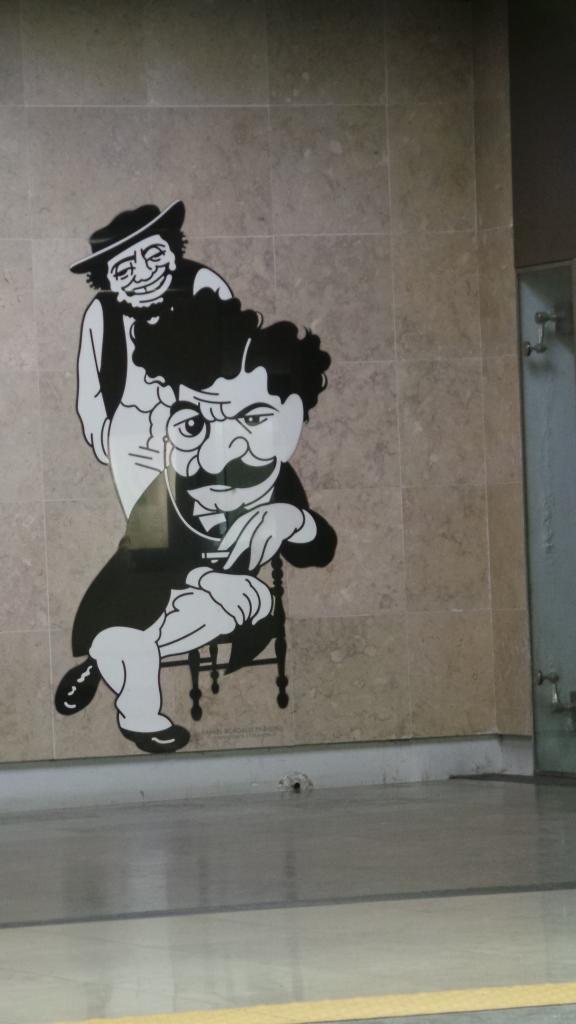 Aeroporto, Lisboa:  just one of dozens of amazing life-size caricatures.