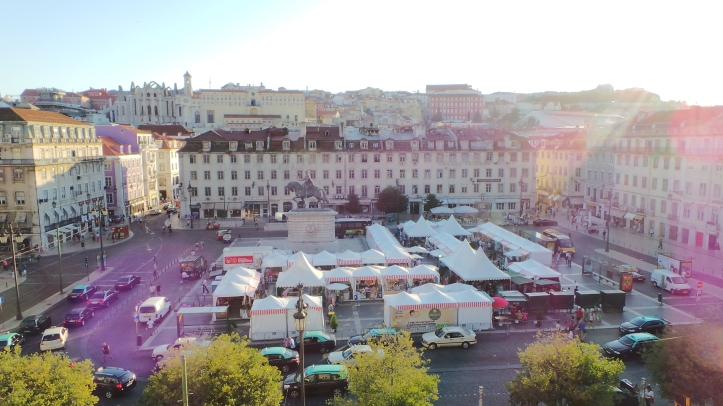 The view of the Rossio Square Fare from my hostel.