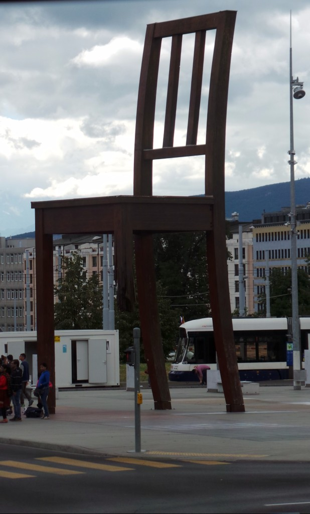 Broken Chair Sculpture - Geneva, Switzerland