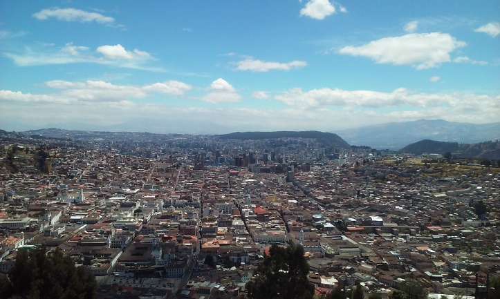 A small view of Quito.
